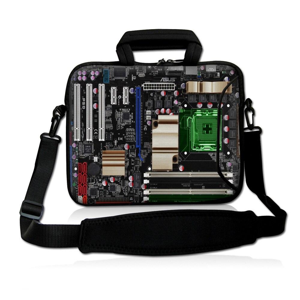 """Placa-mãe 13 """"13.3"""" portátil netbook bolsa de ombro caso w. Computador do punho exterior"""