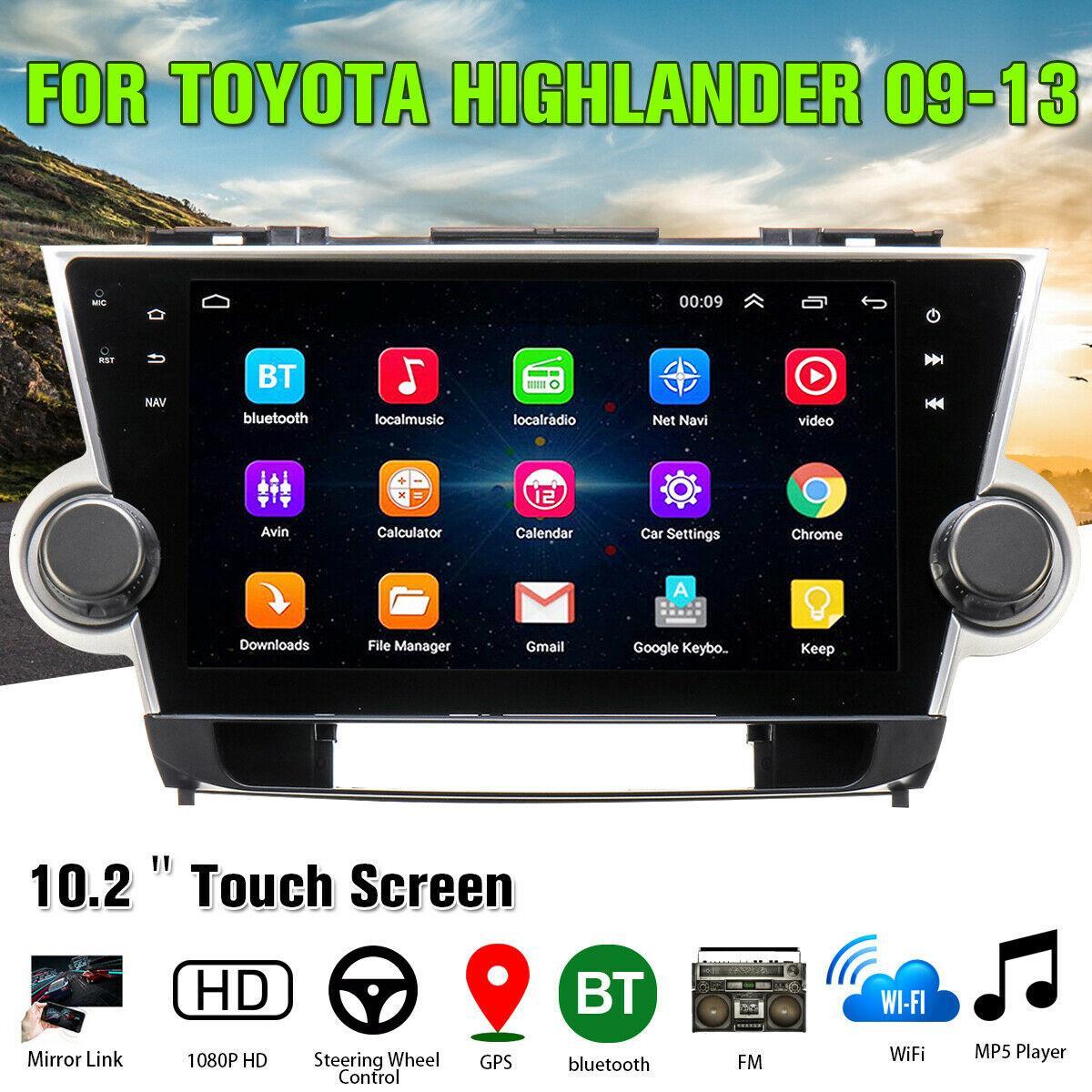 10.2''  Android 10.1 System Car Stereo Radio GPS Navigation MP5 for Toyota Highlander 2009-2013 Radio Multimedia Player недорого