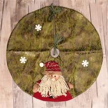 Père noël arbre de noël jupe navidad arbre de noël tapis tapis buffle vérifier arbre décor falda arbol de navidad maison
