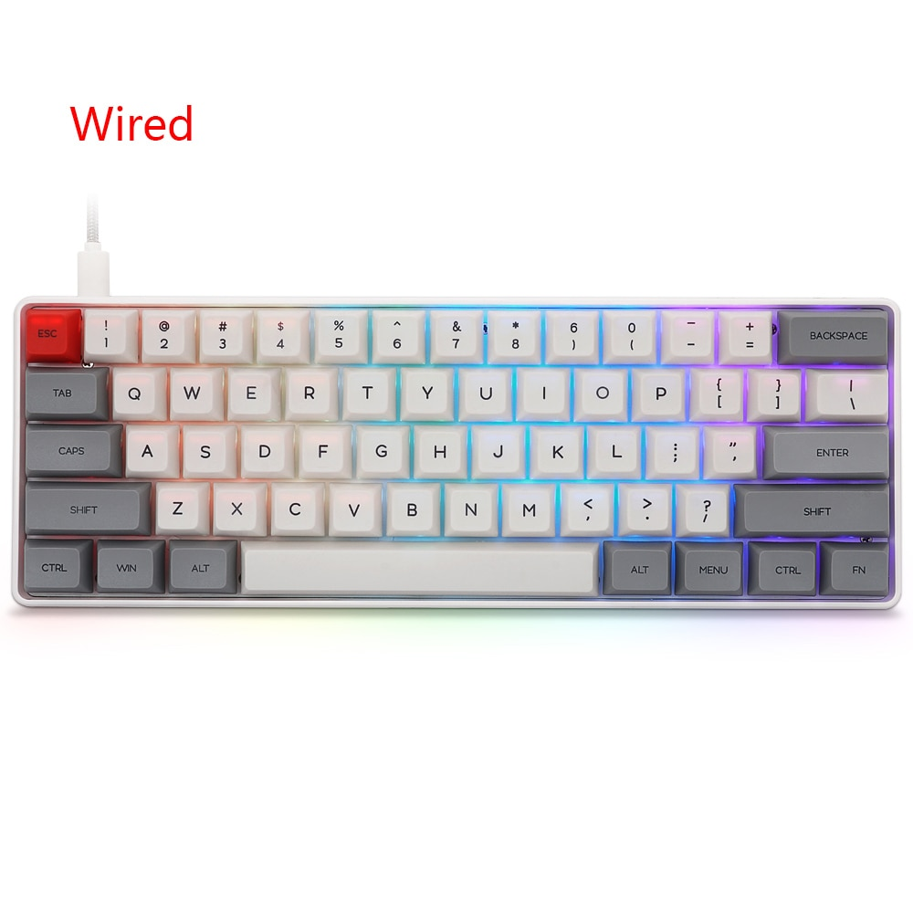 Sale 61 keys Wireless Bluetooth-compatible Illuminated Gaming Keyboard Mechanical Keyboard For Game Laptop PC teclado mecanico enlarge