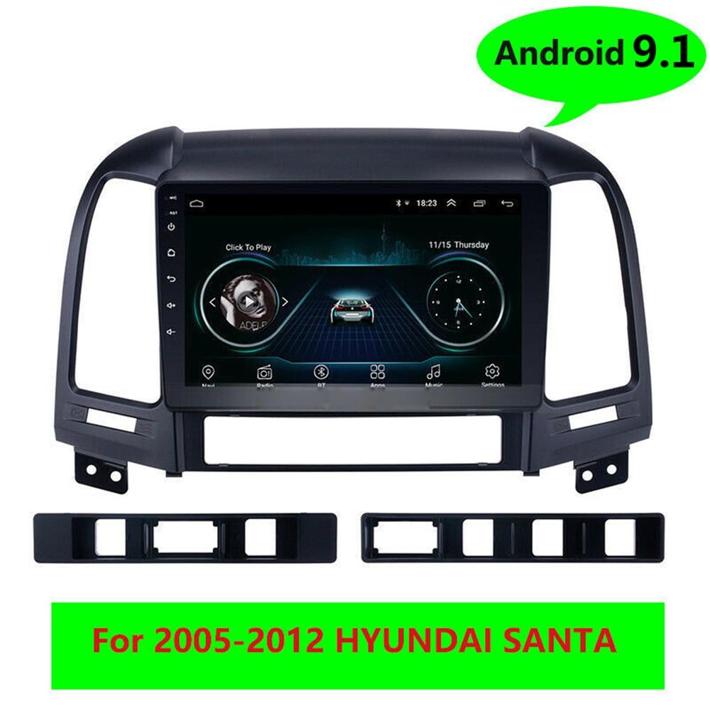 """Reproductor Multimedia de vídeo y Radio para coche Android 9,1 9 """"2din, estéreo, con GPS y cabezal para HYUNDAI SANTA FE 2005 2006 2007 2008 2009 -2012"""