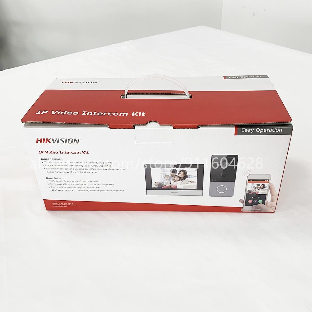Original Hik DS-KIS603-P Video Intercom Kit DS-KV6113-WPE1(B) and DS-KH6320-WTE1 Standard POE Doorbell Door Station WIFI Monitor enlarge