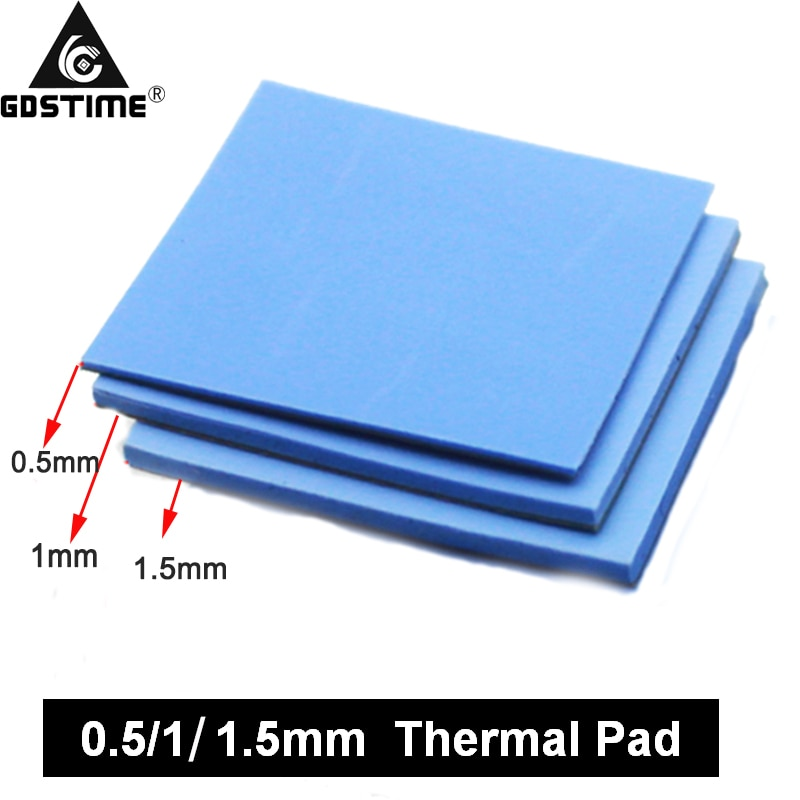 3 Pcs 100mm*100mm 0.5mm 1mm 1.5mm Combination Thermal  Conductive Silicone Pads Heatsink Cooling Pad For Laptop IC GPU VGA Card 10 pcs to 220 silicone thermal heatsink insulator pads w insulating particles for lm78xx lm317 tdaxx