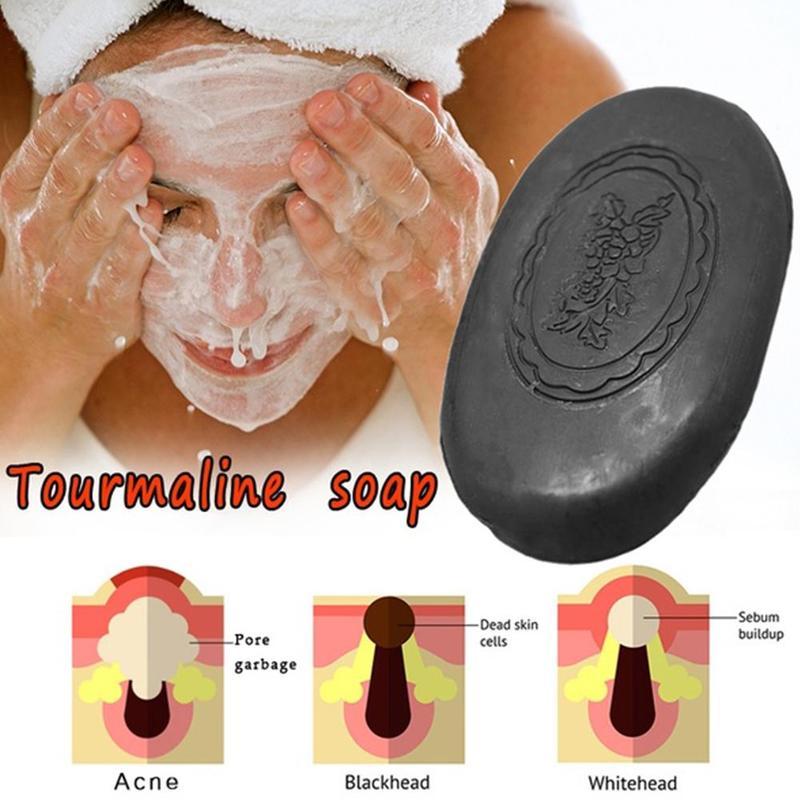 Energia ativa bambu droga bactericida sabão turmalina sabão removedor de cravo óleo-controle para femal rosto mão corpo cuidados saudáveis