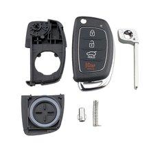 1x4 кнопочный Флип дистанционный Брелок чехол для 2013-2014 HYUNDAI Santa Fe (ix45) современный 4-кнопочный раскладной чехол для ключей