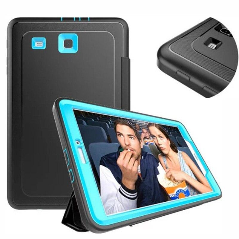 """Детская пластина ударная крышка для samsung tab e 9,6 """"чехол Гибридный сверхмощный тонкий панцири чехол для samsung Galaxy TabE 9,6 T560 T561 чехол"""