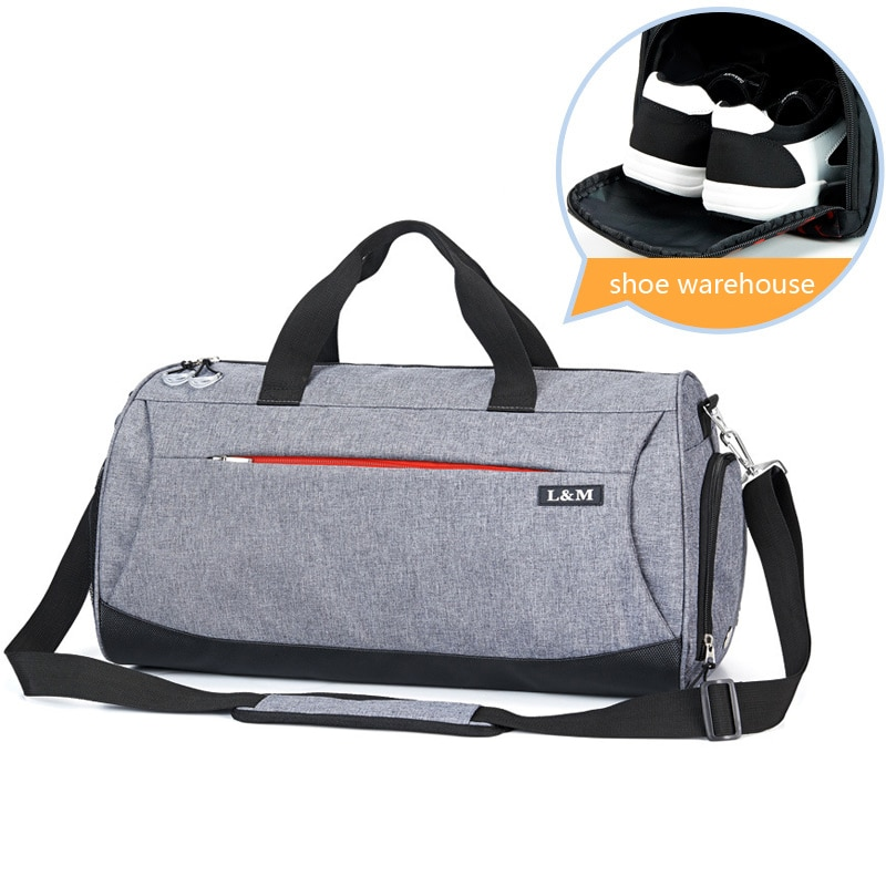 Sport Gym Bag for Fitness Training Men Bags Outdoor Travel Handbag Women Shoulder Bag Yoga Bags Shoes Storage Dry Wet Separation