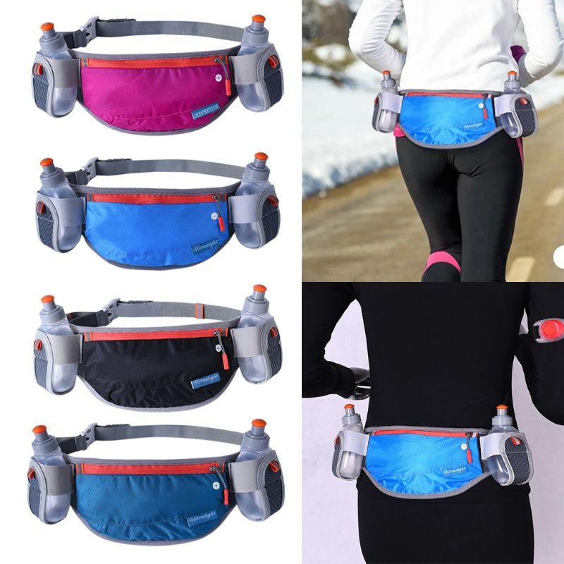 Unisex cintura bolsa maratón ciclismo cinturón bolsa bolsillos de almacenamiento senderismo cintura Pack