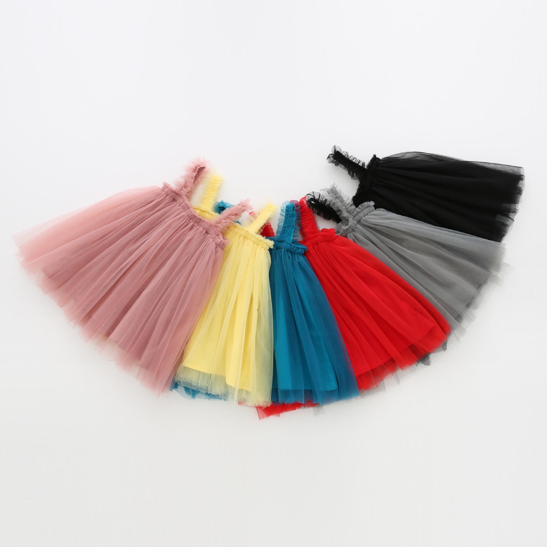 Тюлевое платье-пачка для девочек, детское летнее Сетчатое платье принцессы для младенцев, кружевной сарафан, Vestido одежда для слинга сарафан для девочек
