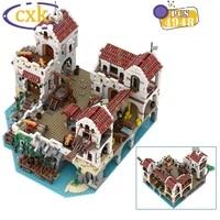 diy pirate series city street view building blocks moc eldorado fortress pirates of barracuda bay bricks toys for children gifts