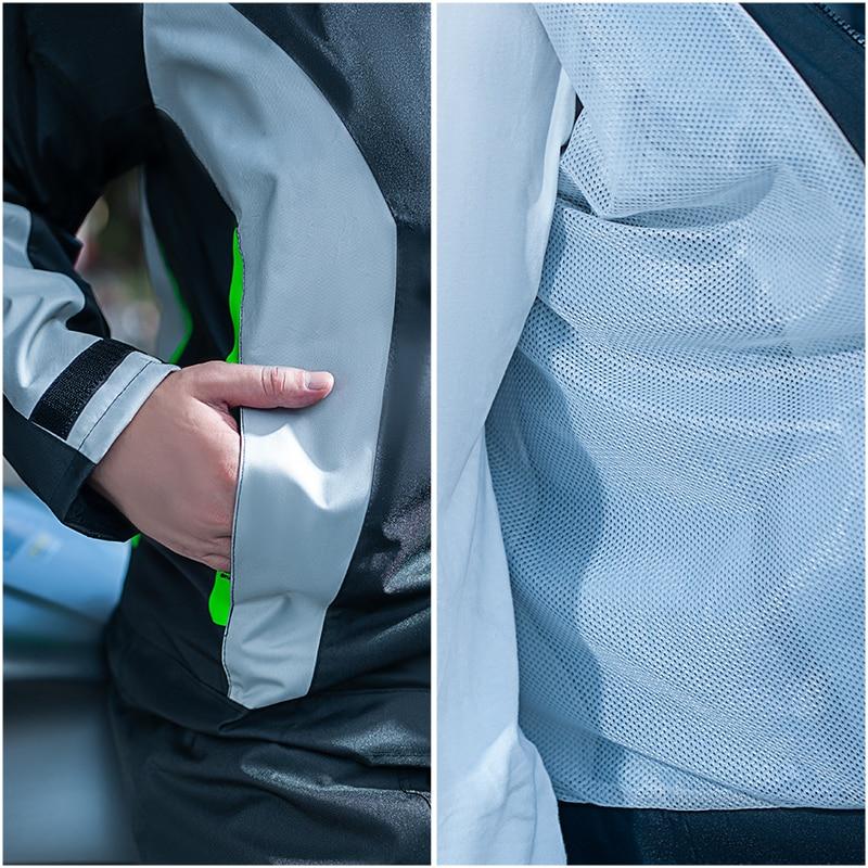 Raincoat rainpants suit single body rainproof male and female adult split electric car motorcycle raincoat enlarge