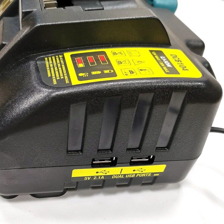DCB104 Li-ion Battery Charger 4-Port 3A Charging Current For dewalt XR 10.8V 12V 14.4V 18V 20V FlexVolt 20V 60V DCB127 DCB105 enlarge