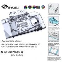 bykski water block use for zotac rtx3070x gaming oc 8gtwin edge oc gpu card full cover copper radiator block
