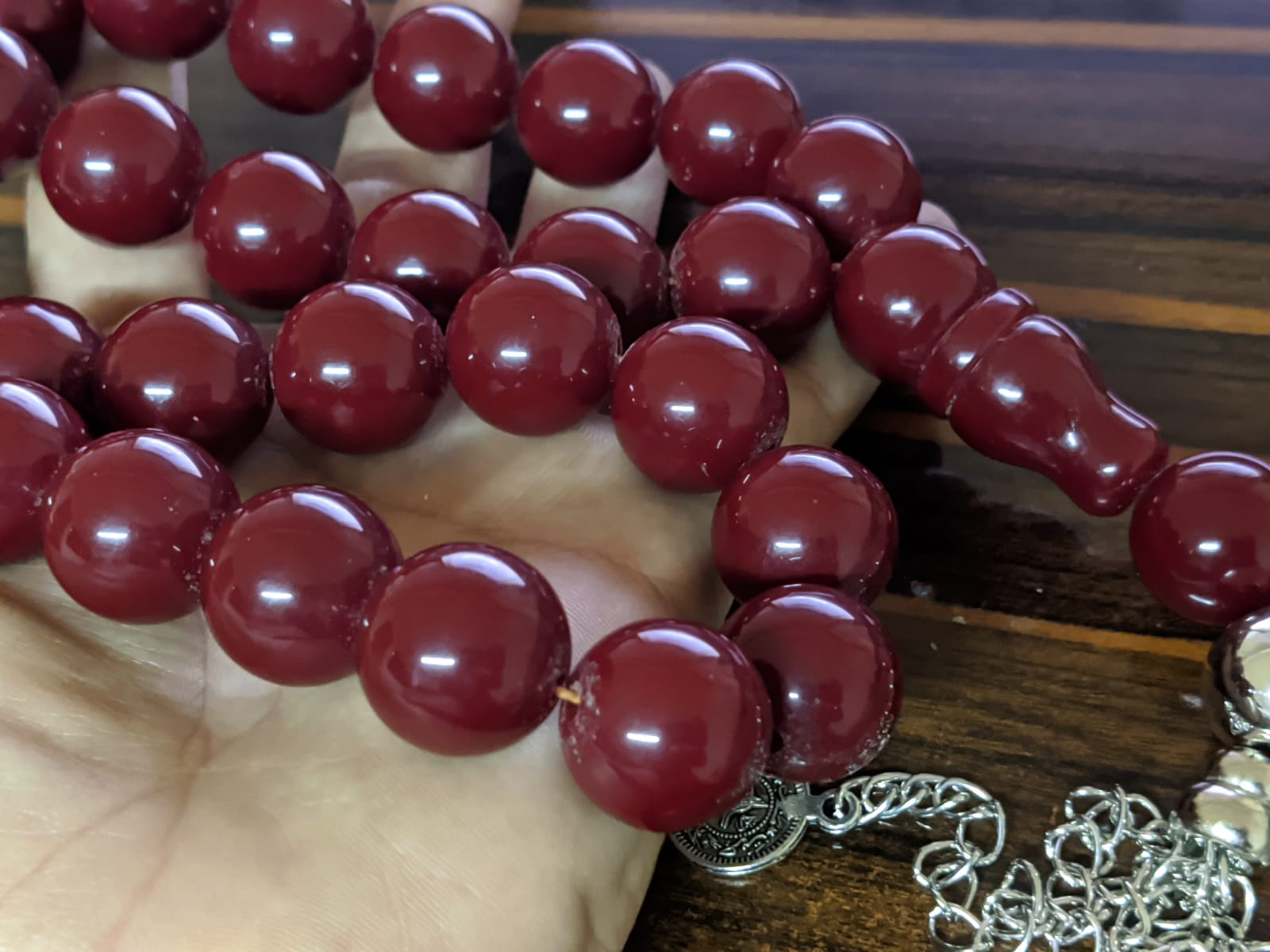 Ottoman Faturan German Amber Sandalous Misbaha Prayer Beads Islamic Gift Tasbih Tasbeeh Tasbeh Rosary Tasbih # 36B
