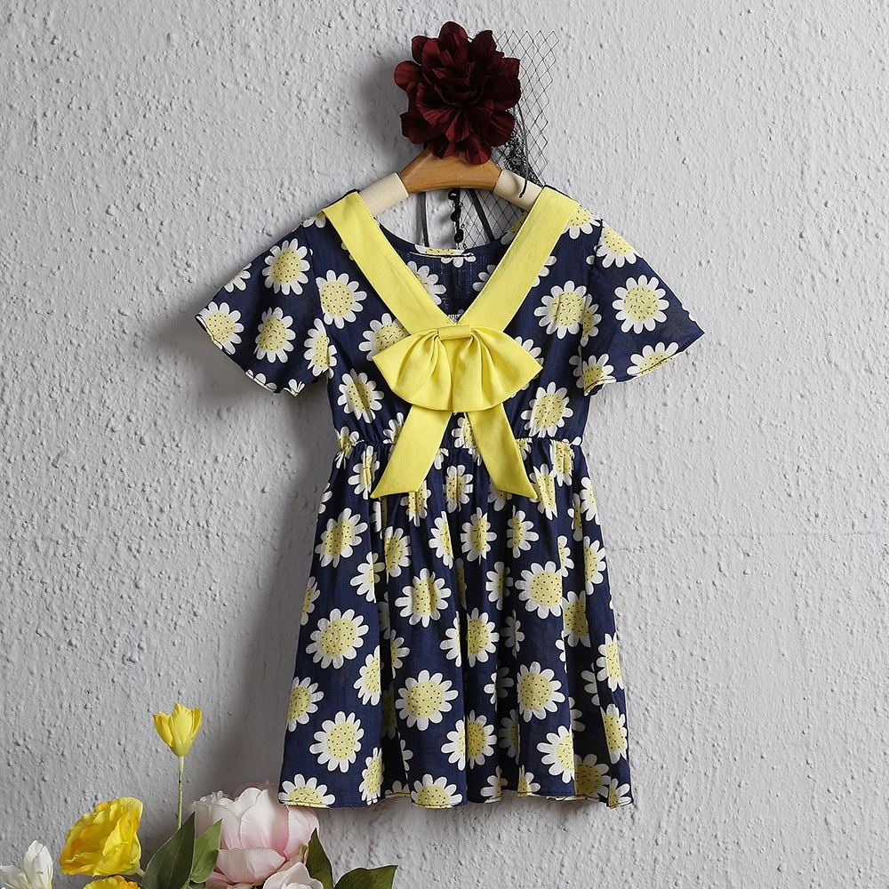YOYOSHOW  Summer new girls' dresses comfortable & fashionable girls' dresses 1-5 years old girls' dresses.