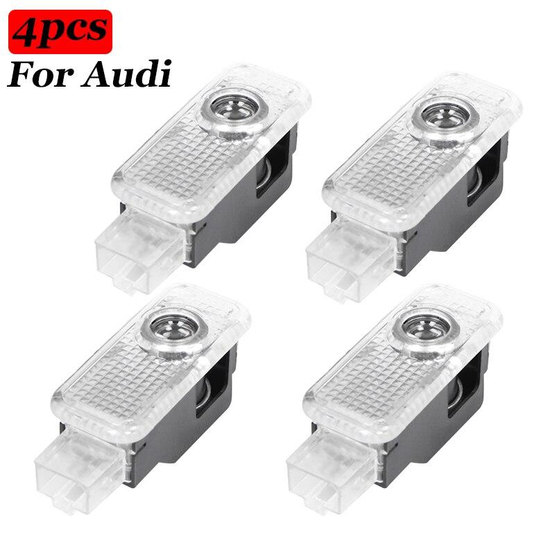 4 шт., Автомобильные светодиодные проекторы для Audi Sline A1 A3 A4 A5 A6 A7 Q3 Q7 TT R8 B5 B6 B8 C5 C8 8P