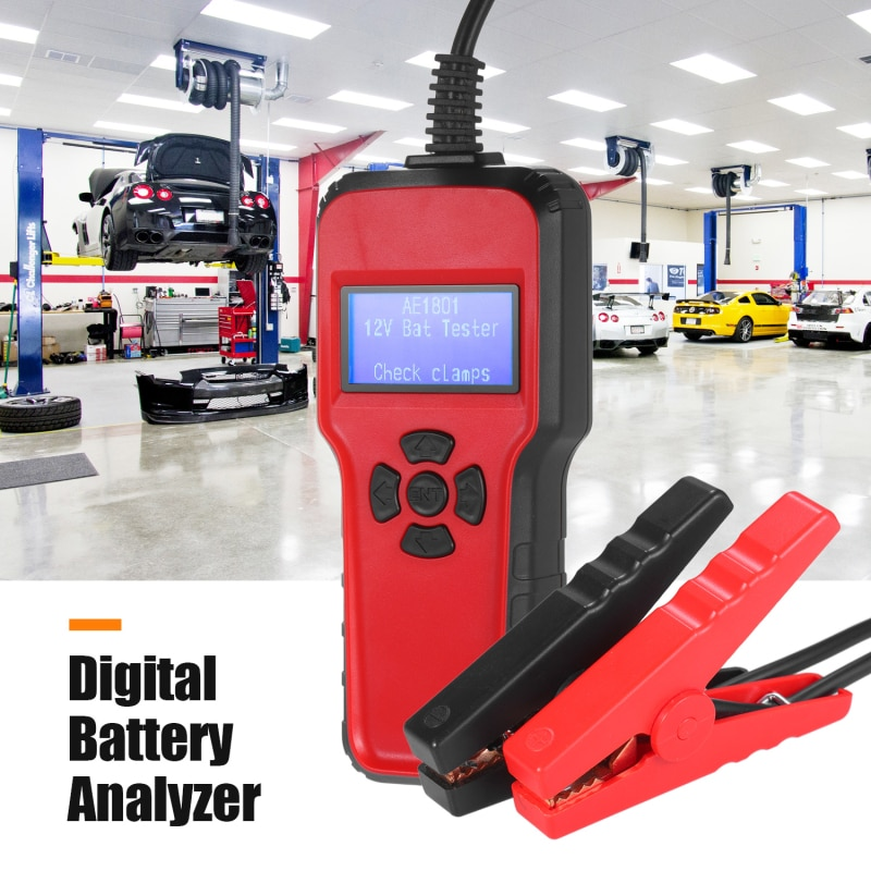 Car Electric Load Charging System Detect AE1801 Car Battery Tester Digital Battery Analyzer Battery Capacity Tester Repair Tool