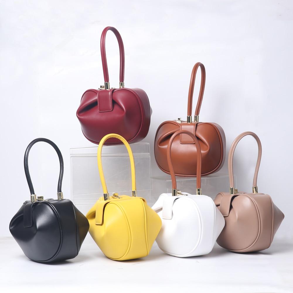 AliExpress - sac a main Luxury Designer Handbag Women Small Round Design Leather Hand Bag For Women 2021 Fashion Bowling Bag Purse Clutches