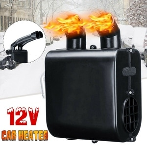 Universal 12V Car Heater Water Heating Metal Shell Portable Defroster Demister Double Vents Heater