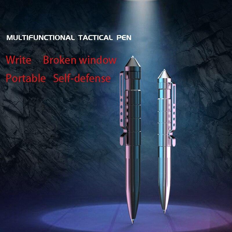 Stainless Steel Multifunctional Tactical Pen EDC Self-defense  Broken Window Cone Camping Outdoor Survival Multi-tool недорого