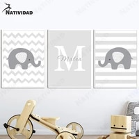 home decoration canvas painting cute gray panda elephant nordic posters and prints text wall art wall pictures childrens room