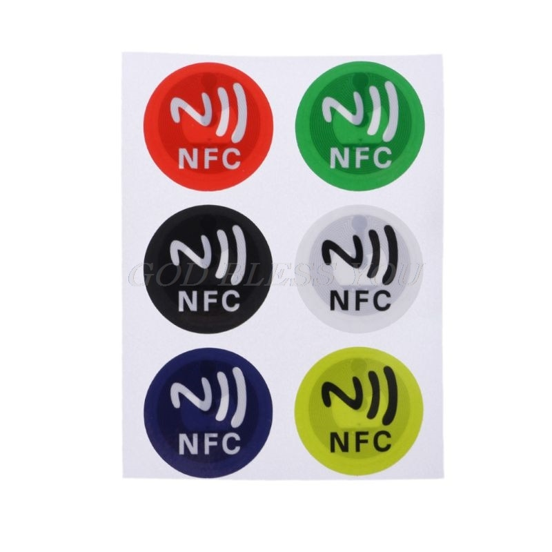 6Pcs Waterproof PET Material NFC Stickers Smart Adhesive Ntag213 Tags For All Phones Drop Shipping