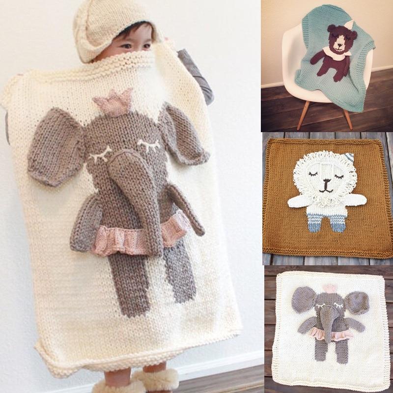 New three-dimensional handmade cartoon modeling handmade blanket wool blanket children's knitted air conditioning blanket