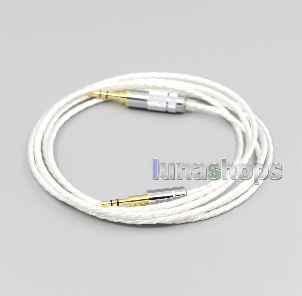 LN006614 Hi-Res chapados en plata 7N OCC Cable de auriculares para creativo live2 Aurvana Sennheiser PXC480 PXC550 mm450 mm550
