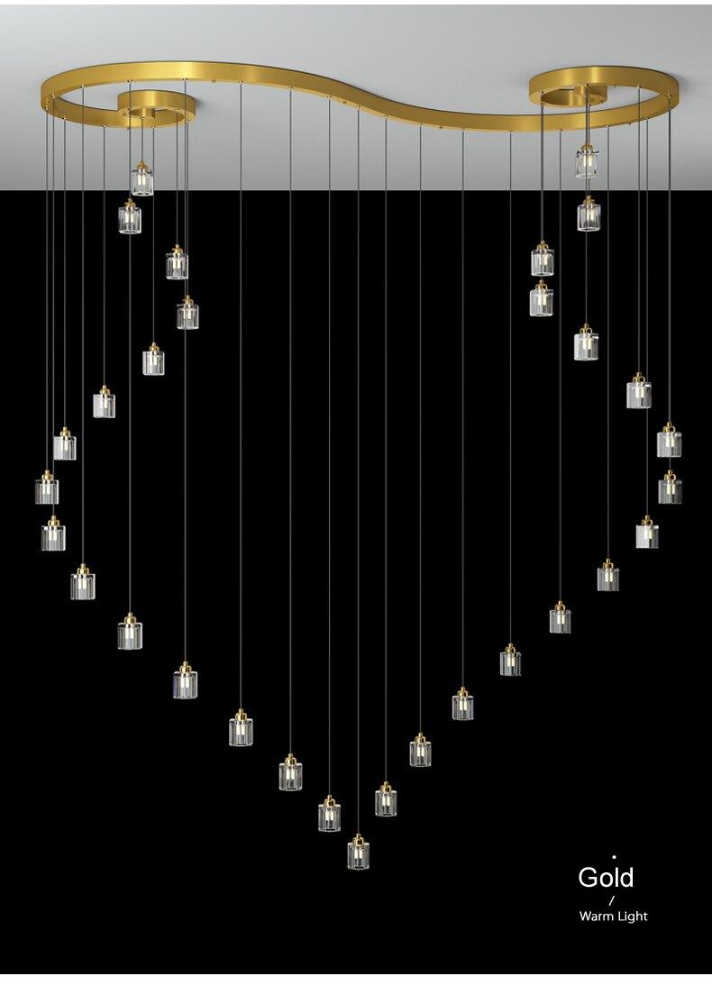 الحديثة LED الثريا إضاءة المنزل نحى خواتم السقف شنت أضواء الثريا مصباح معلق الذهب أسود اللون غرفة الجلوس