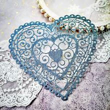 KSCRAFT Heart-shaped Metal Cutting Dies Stencils for Scrapbooking/photo album Decorative Embossing Paper Card