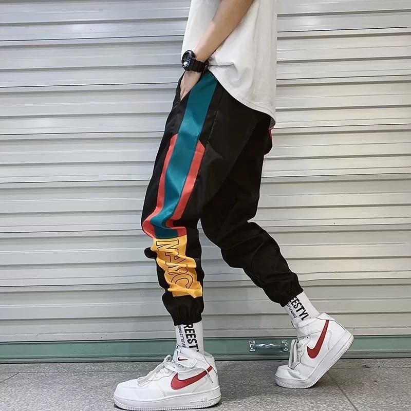 2021 New Hip Hop Streetwear Joggers Pants Men Casual Cargo Pant Trousers High Street Elastic Waist Harem Pant Man