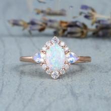 925 banhado a prata rosa ouro opala anéis boutique jóias feminino anéis para namoradas amigos presentes casamento anel de noivado