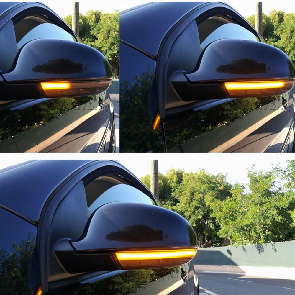 Para VW GOLF 5 GTI V MK5 Jetta Passat B5.5 B6 Sharan Superb EOS, luz LED dinámica de intermitente, indicador de espejo lateral