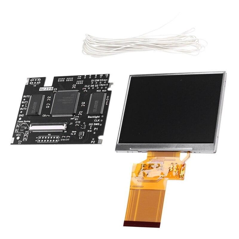 Écran LCD V2 plein écran haute luminosité pour équipement de jeu SEGA GG, Kit LCD haute luminosité