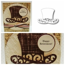 Chapeau magique découpes de cartes   Pour la fabrication de cartes en forme de haut-de, matrices de découpe en métal, pochoirs décoration nouveau 2019