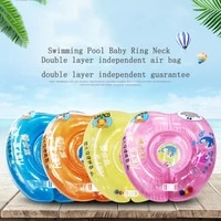 Swimming Pool Baby Ring Neck Float For Kids Home Thick Life Buoy Smart Trainer Zwembad Inflatable Piscina Bebes Accessories