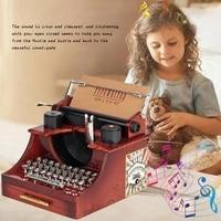 classic music box typewriter model antique metal music box wedding birthday gift toy decoration music box