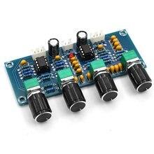 XH-A901 NE5532 Placa Tom amplificador Pré-amp Com ajuste de volume do pré-amplificador de graves agudos Controlador de Tom Para O amplificador placa