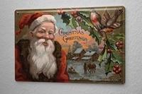 since 2004 tin sign christmas santa claus mistletoe