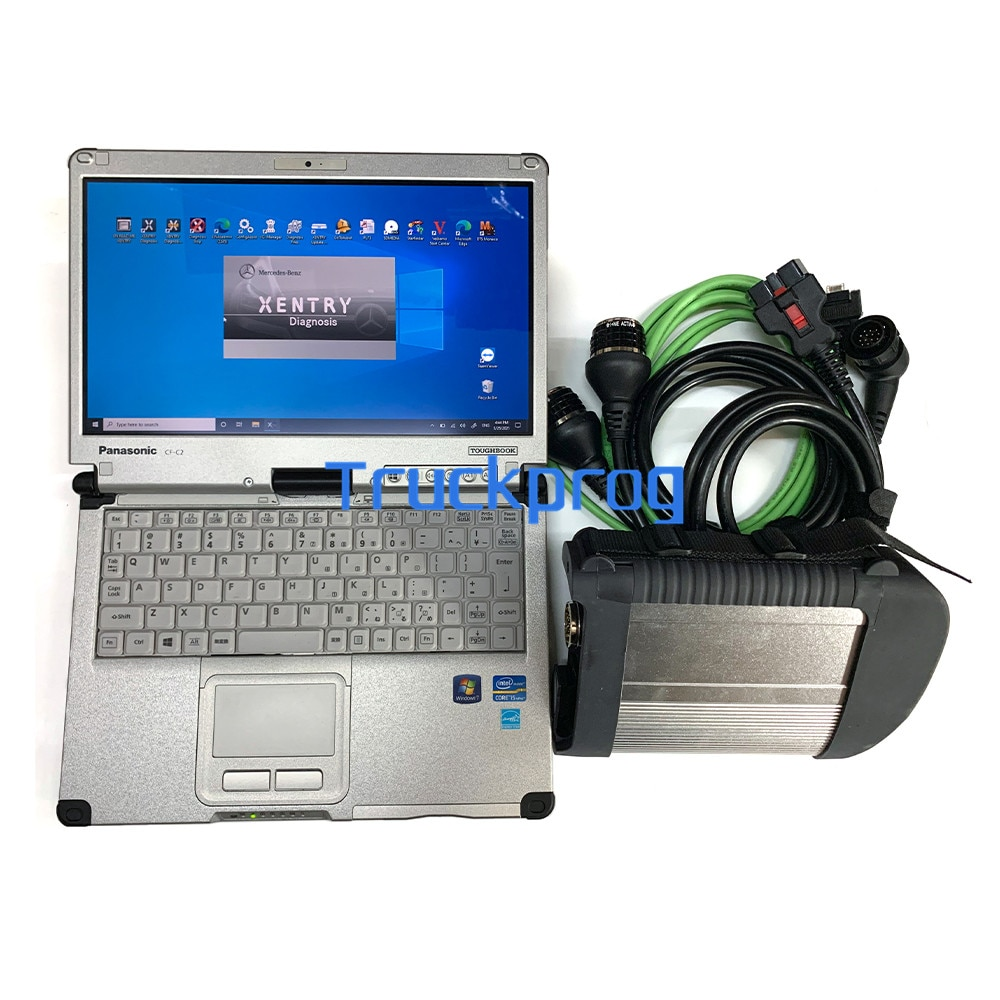 MB STAR C4 Multiplexer SD Connect C4 xentry das wis epc For Benz truck car 12V/24V diagnostic TOOL+Toughbook C2 LAPTOP