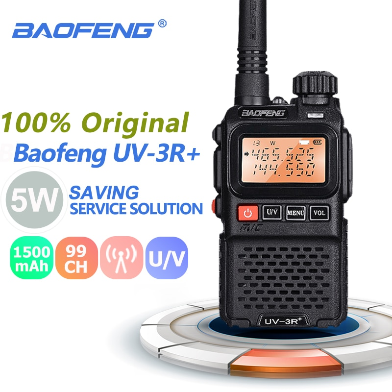 Baofeng UV-3R + زائد البسيطة اسلكية تخاطب المحمولة 3W UHF و VHF اتجاهين راديو Comunicador الأشعة فوق البنفسجية 3r Hf الإرسال والاستقبال هام راديو Uv3r محطة