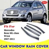 for mercedes benz ml class w164 ml350 2007 2011 window visor car rain shield deflectors awning trim cover exterior car styling