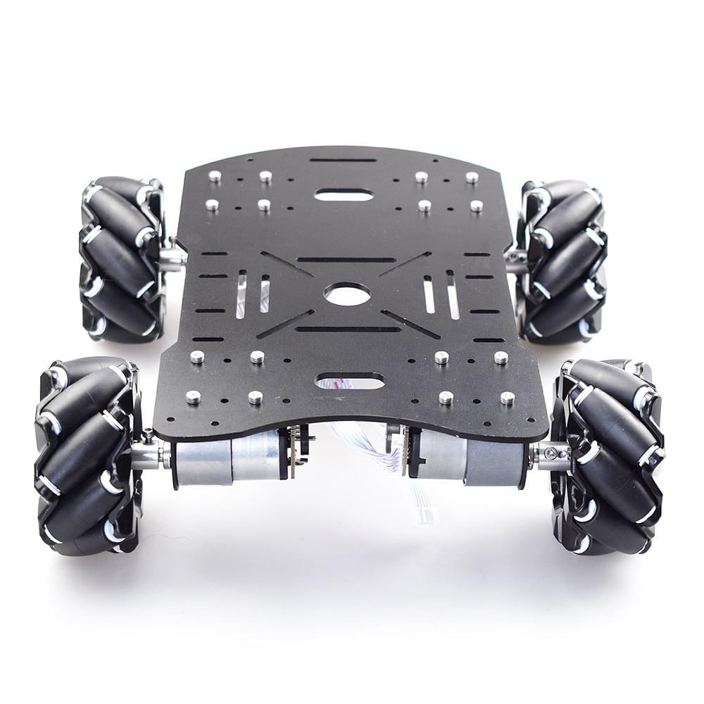 10 كجم تحميل المعادن أومني Mecanum عجلة سيارة روبوت الهيكل عدة مع 4 قطعة المحرك التشفير لاردوينو التوت بي لتقوم بها بنفسك الجذعية أجزاء لعبة