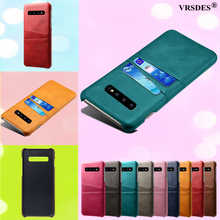 Card Slots Cover PU Leather+PC Case For Samsung Galaxy S10 S9 S8 Plus Note 9 8 A9 A7 A8 A6 Plus 2018 J7 J5 J3 A7 A5 A3 2016 2017