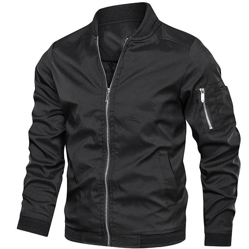 Бомбер мужской на молнии, повседневная приталенная куртка-бомбер в стиле хип-хоп, блестящая одежда, размеры до 6XL, весна-осень