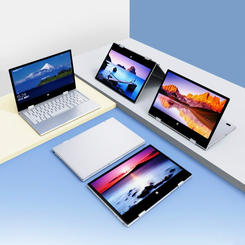 11.6 Inch Touch Screen Laptop 8GB DDR4 Windows 10 Pro Notebook Intel N4100 Quad Core YOGA Netbook 1920x1080 IPS 360° Type-C