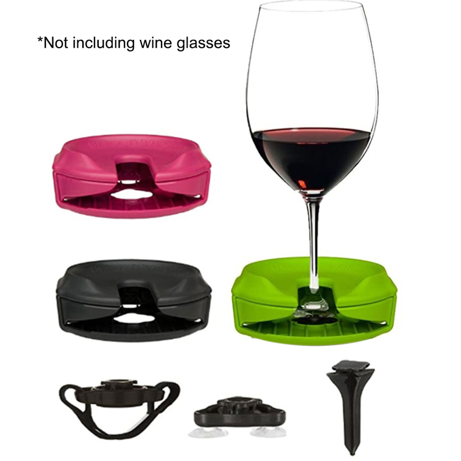 Outdoor Wine Glass Holder Accessories Champagne Picnic For Boat Bathtubs Chair Armrest Multi-Purpose Portable Wine Glass Holder
