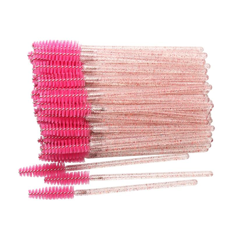 50 Pcs Disposable Crystal Eyelash brush Mascara Wands Applicator Diamond Eye Lash brushes  Eyelash E