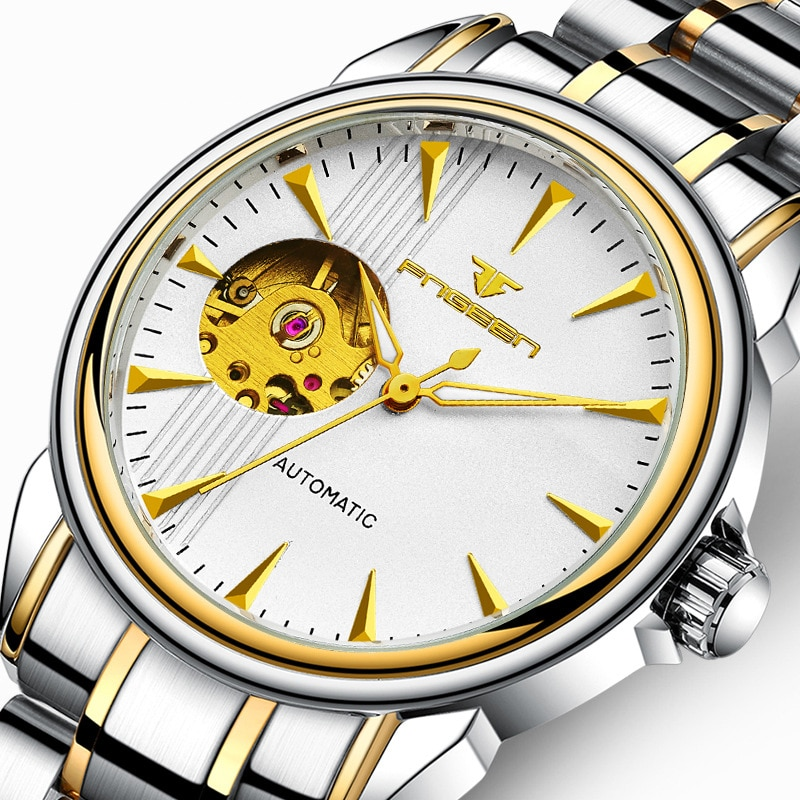 2021 New Watches Men Automatic Mechanical Wristwatch Waterproof Business Sport Style Stainless Steel