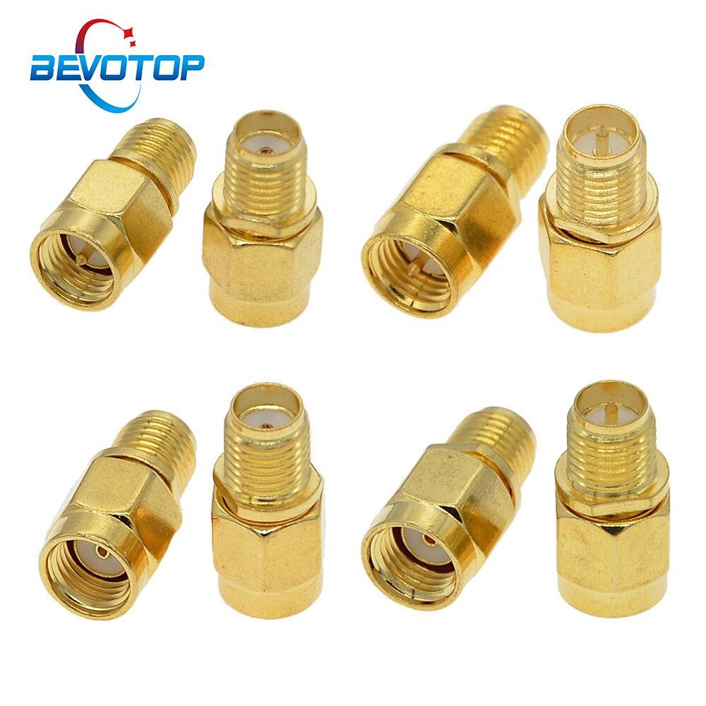 100 قطعة/الوحدة RF SMA / RP-SMA المكونات الذكور إلى الإناث جاك ل Raido ل هوائي SMA إلى SMA RF محوري محول موصل محول